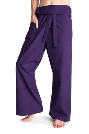 Men's Thai Fisherman Trousers - Purple