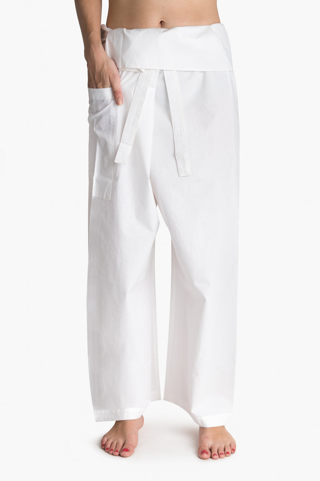 Yoga / Thai Fisherman Trousers - White