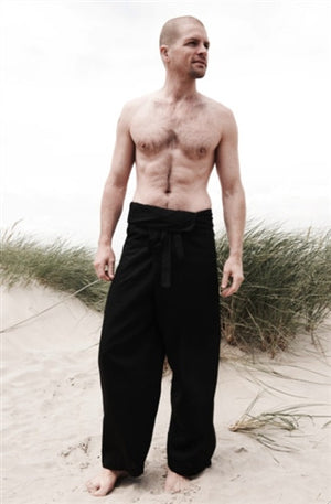 Men's Thai Fisherman Trousers - Black