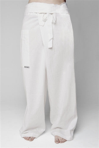 Men's Full length Thai Fisherman Trousers - Natural