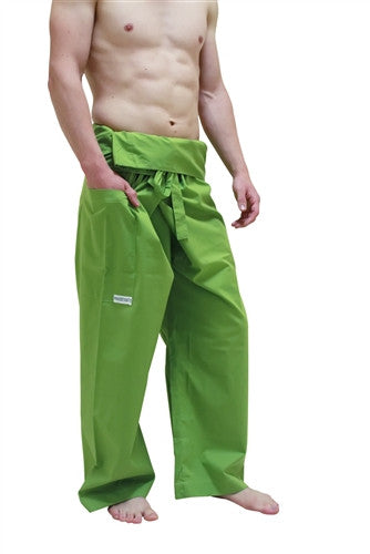Men's Thai Fisherman Trousers - OLIVE