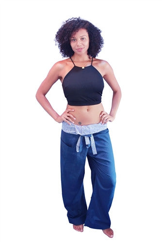 Yoga / Thai Fisherman Trousers - Turquoise