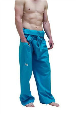 Men's Thai Fisherman Trousers - Turquoise