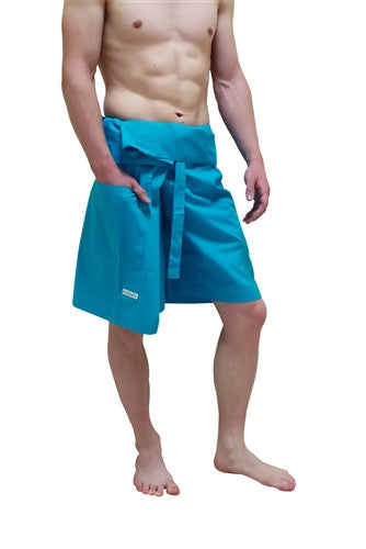 Men's Capri - Thai Fisherman Trousers - TURQUOISE
