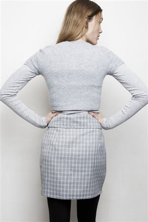 Wrap around wool skirt