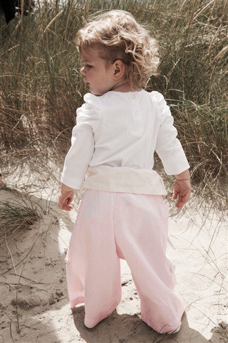 Pink with Cream Turnover - Thai Fisherman Trousers - 0-3 yrs