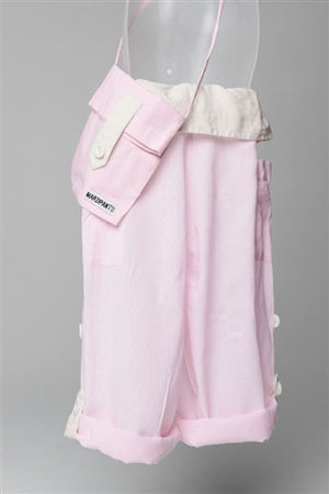 Pink with Cream Turnover - Thai Fisherman Trousers - 3-10 yrs