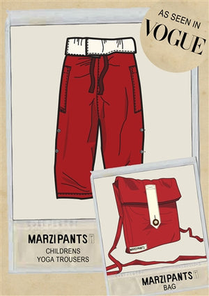 Red with Cream Turnover - Thai Fisherman Trousers - 3-10 yrs