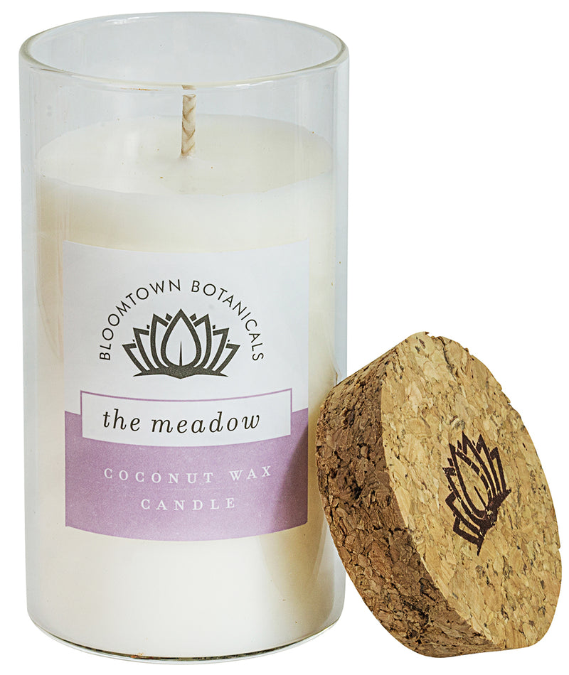 Scented Botanical Wax Candle - The Meadow (Lavender, Rose, Geranium & Camomile)