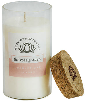 Scented Botanical Wax Candle - The Rose Garden (Musk Rose & White Florals)