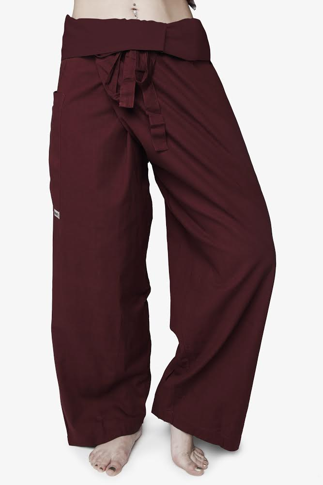 Men's Thai Fisherman Trousers - Maroon
