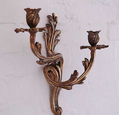 Pair of French Antique Wall Sconces