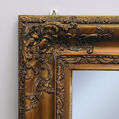 Antique Gesso Mirror