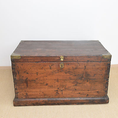 Antique Pine Silver Chest