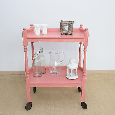 Vintage Shabby Chic Trolley in 'Scandinavian Pink'