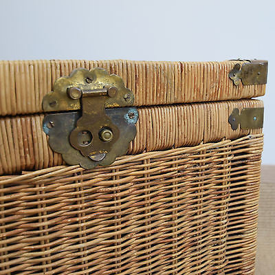 Vintage Wicker Trunk