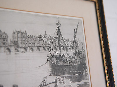 Antique Etching by FW Sedgwick