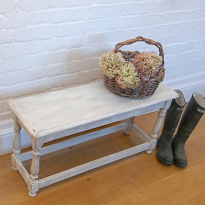 Vintage Shabby Chic Bench or Side Table