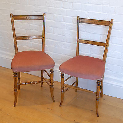 Matched Pair of Victorian Occasional Dining Chairs