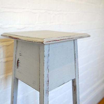 Vintage Shabby Chic Plant Stand, Display Stand, Bedside Table Painted