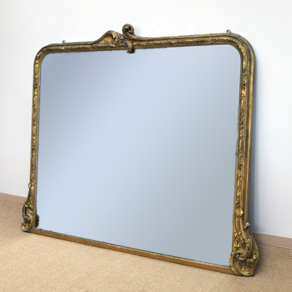 Antique Overmantel Mirror