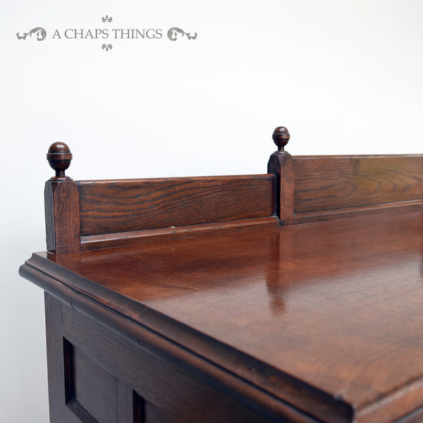 Oak Breakfront Sideboard
