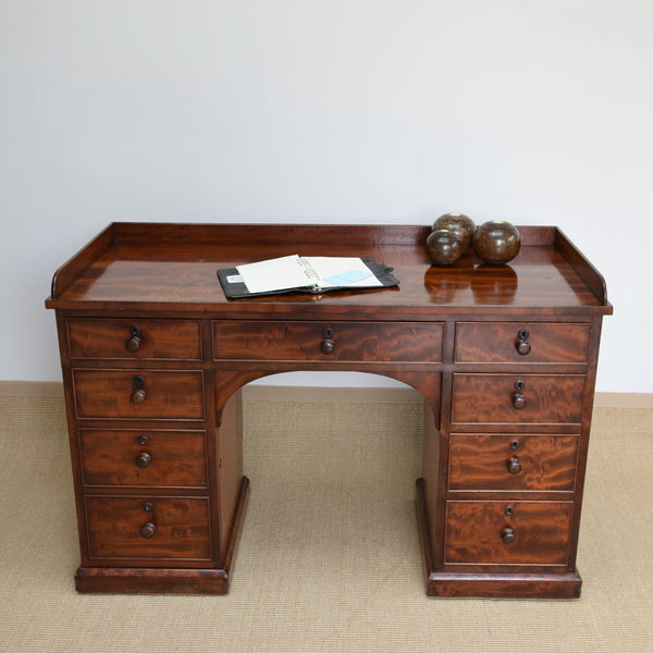 Antique Mahogany Kneehole Desk