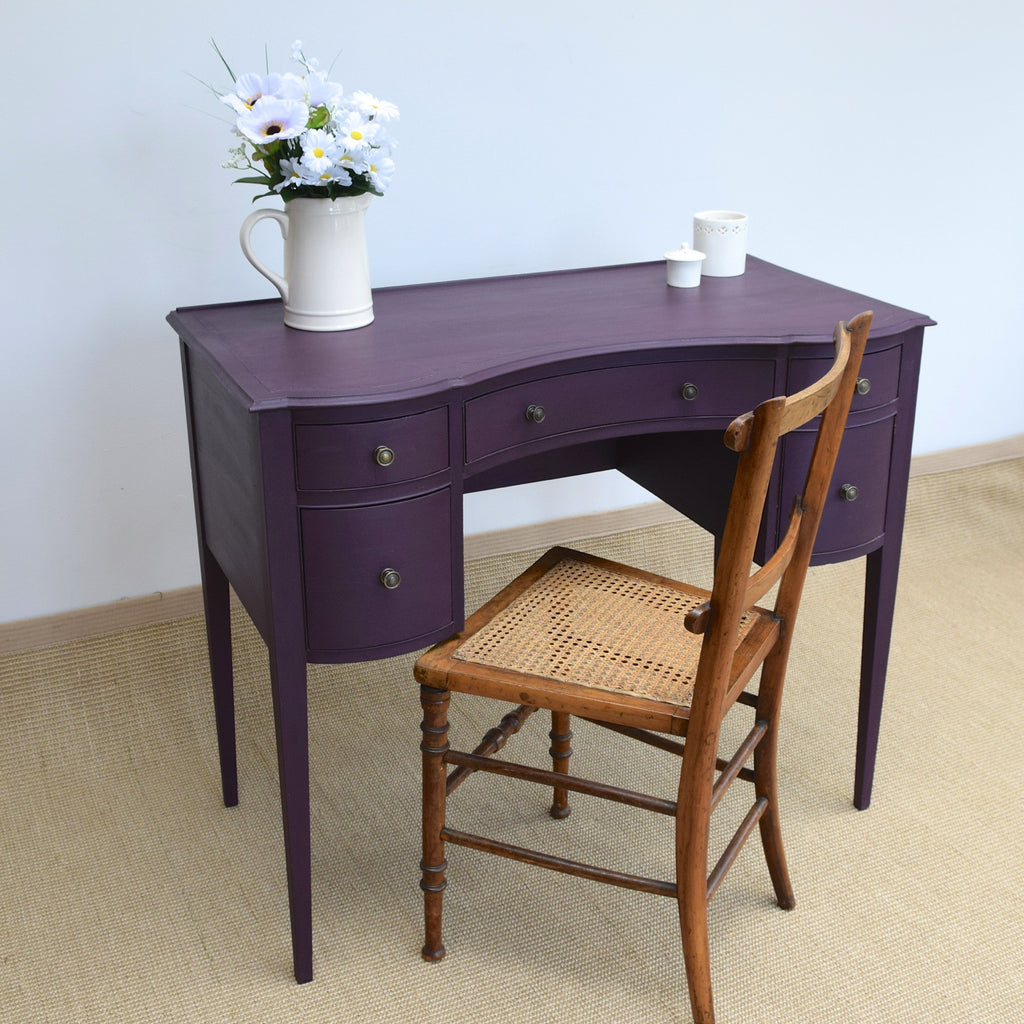 Early 20thC Writing Table Painted Plum