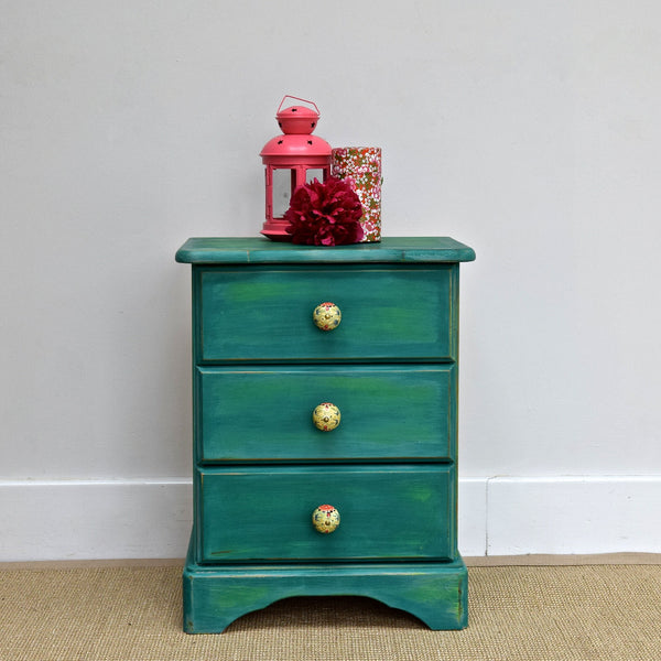 Shabby Chic Pine Bedside Table