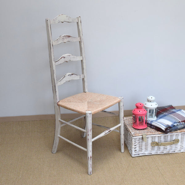 Vintage Shabby Chic Ladder Back Chair