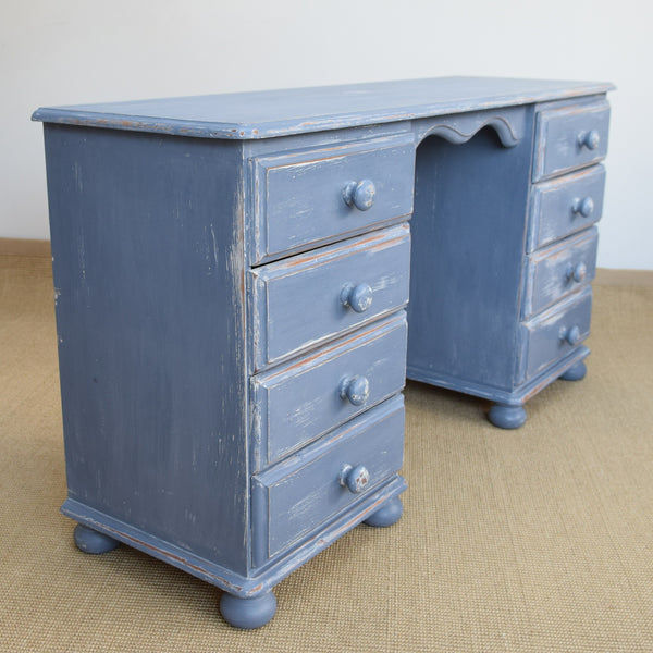 Vintage Painted Pine Dressing Table
