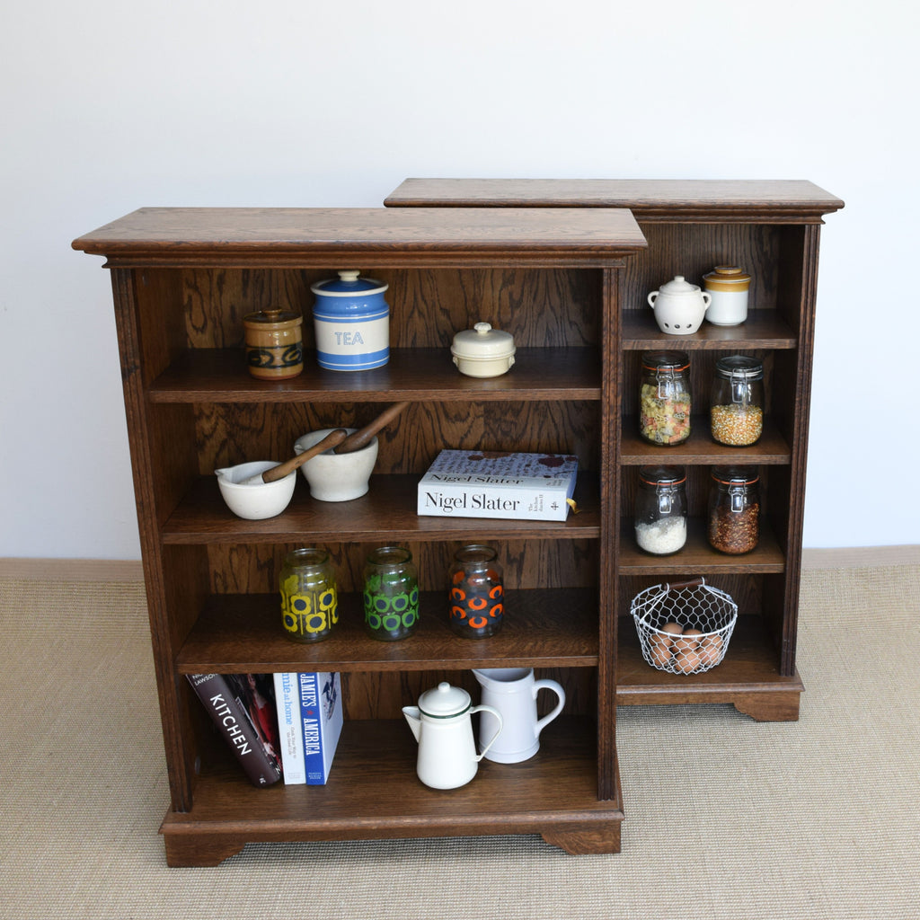 Pair of Modern Oak Bookcases