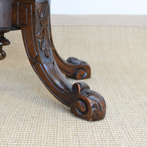 Antique C19th Walnut Oval Side Table