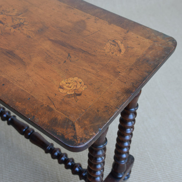 Antique Victorian Fruitwood Side Table