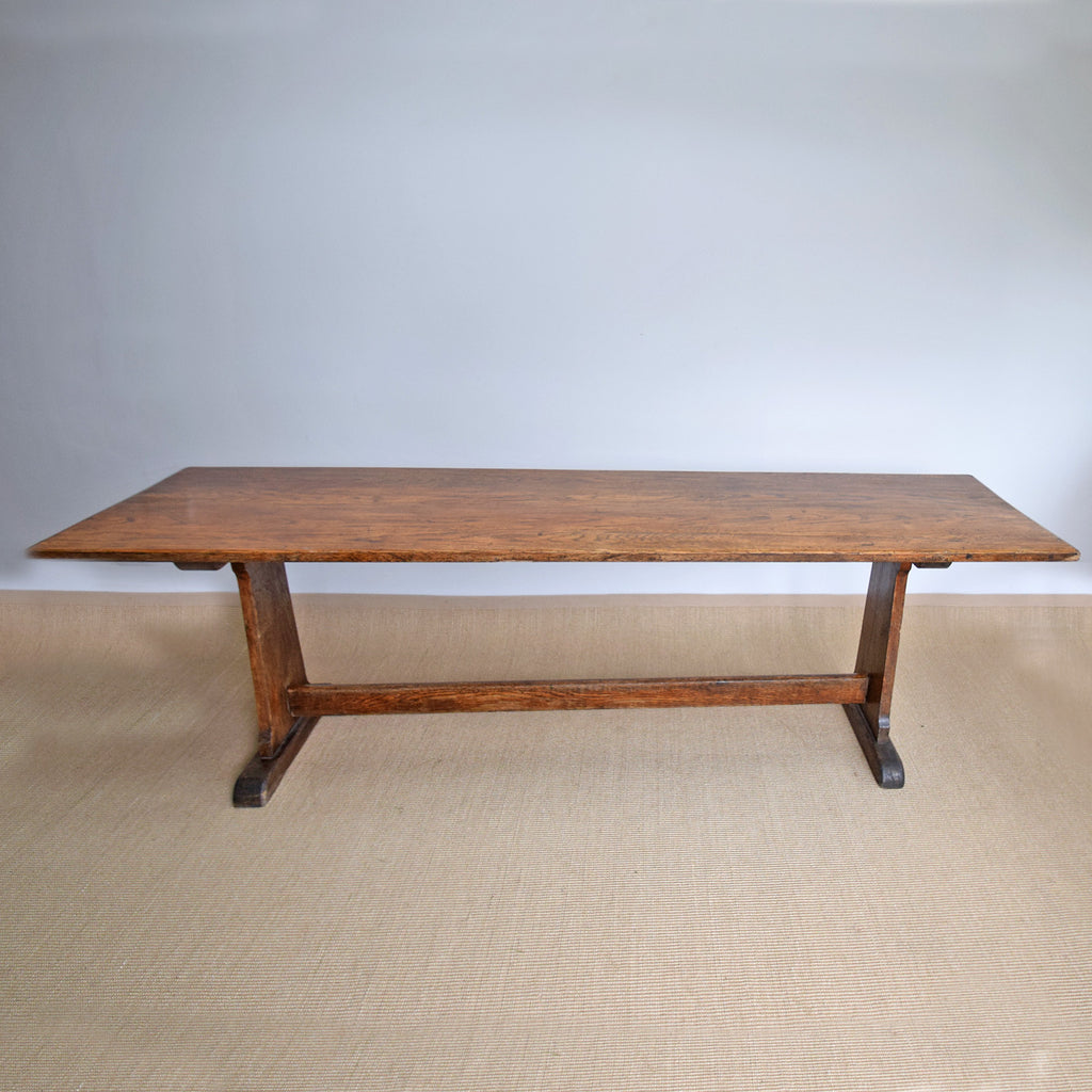 Antique English Oak Refectory Dining Table
