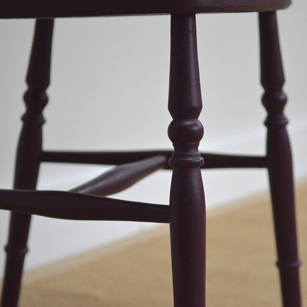 Plum Vintage Stick Back Kitchen Chair