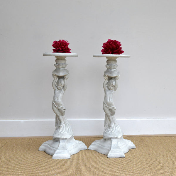 Pair of Decorative Figural Stands