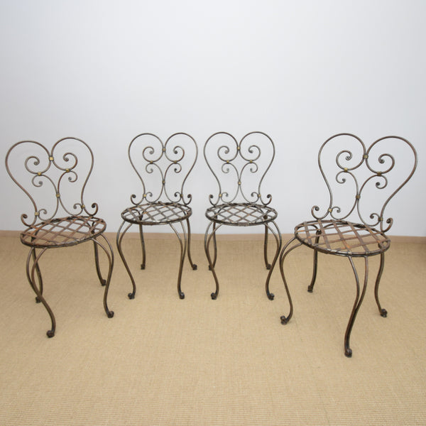 Set of 4 Le Forge Lou Lou Garden Chairs