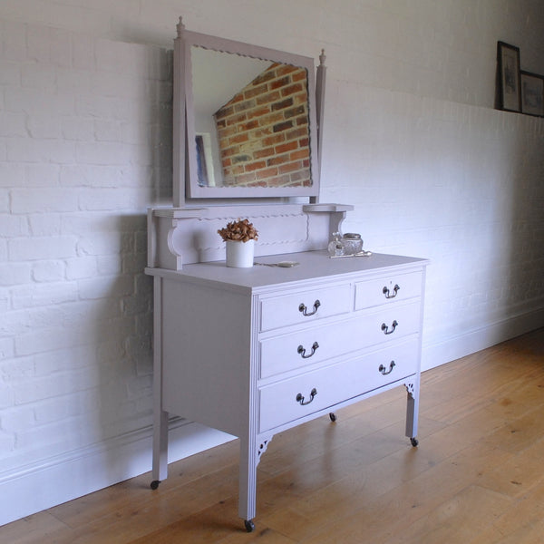 Vintage Dressing Table Painted Grey