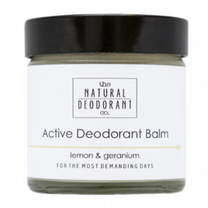 Natural Deodorant Company Active Deodorant Balm With Lemon & Geranium