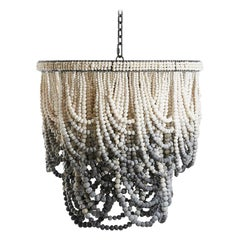 Romantic Swag / Handmade Clay Beaded Chandelier / Ombre