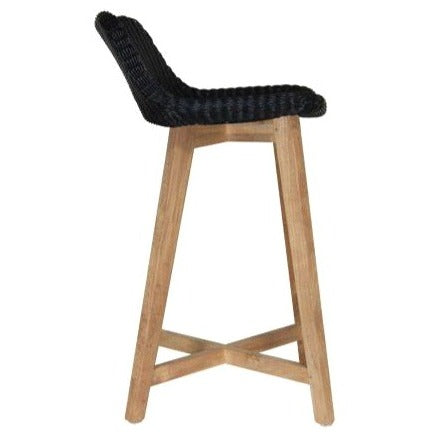SKAL BARSTOOL - 2 SIZES / BLACK (INDOOR-OUTDOOR)