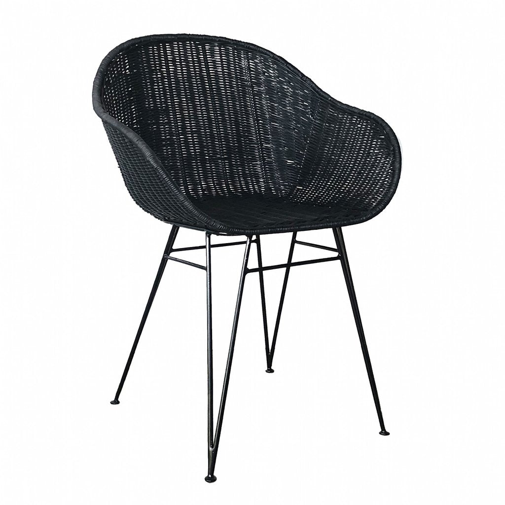 ANGOLA DINING CHAIR / BLACK