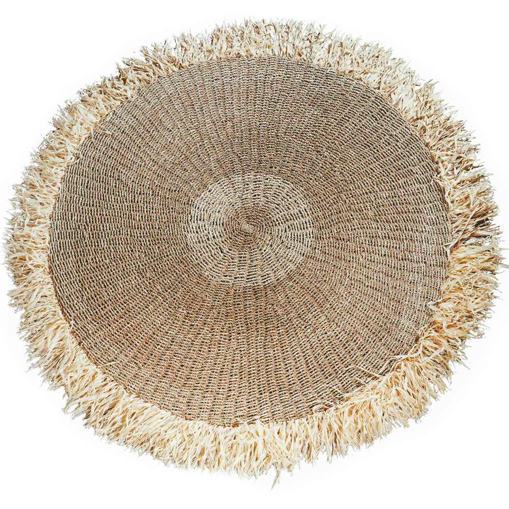 RAFFIA FRINGED CARPET / NATURAL