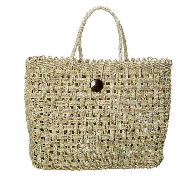 COCONUT BUTTON MARKET BAG - BASKET / NATURAL