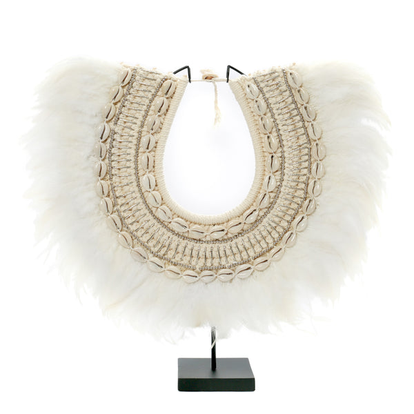 COASTAL FEATHER STAND / WHITE