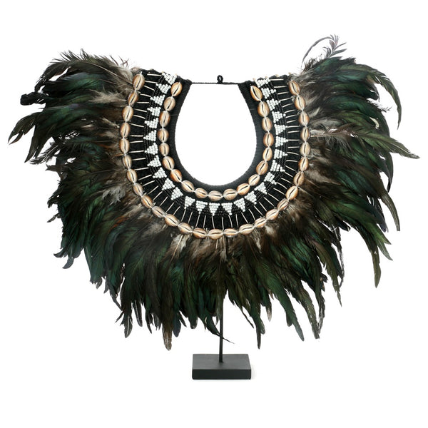 COASTAL FEATHER STAND / GREEN + BLACK