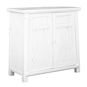 BAMBOO CABINET / WHITE