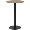 BRUNSWICK BAR TABLE / RECLAIMED ELM WOOD / BLACK