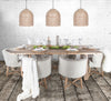 Cayman Dining Table | Galvanized Center Insert